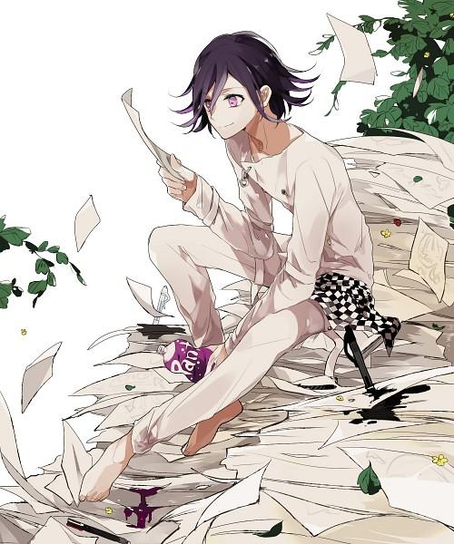 Tags: Anime, Pixiv Id 8242515, New Danganronpa V3, Ouma Kokichi, Ink, Holding Paper, Fanart From Pixiv, Pixiv, Fanart