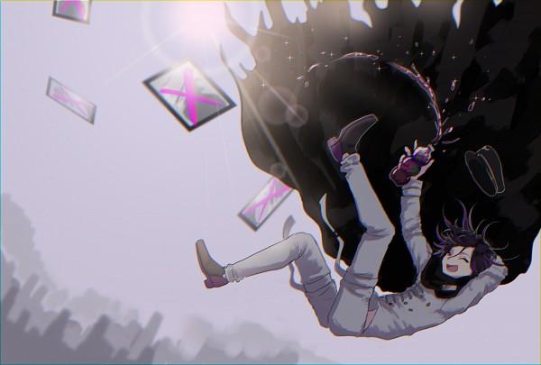 Tags: Anime, Gume Dr, New Danganronpa V3, Ouma Kokichi, Painting (Object), Fanart, Twitter, PNG Conversion