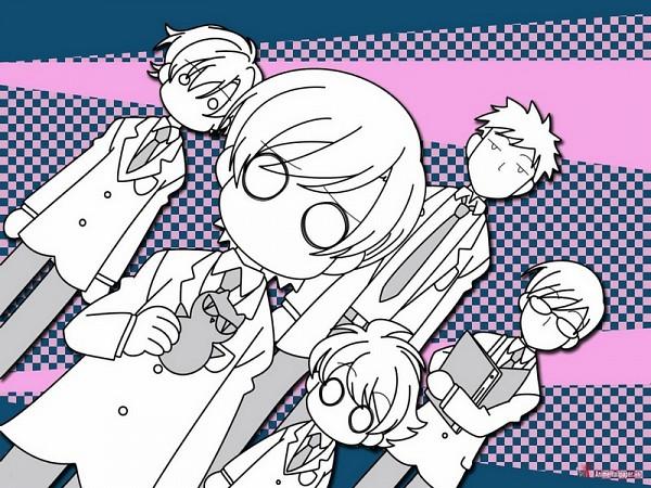 Tags: Anime, Ouran High School Host Club, Ootori Kyoya, René Tamaki Richard de Grantaine, Fujioka Haruhi, Haninozuka Mitsukuni, O O, Clipboard, Writing, Screenshot