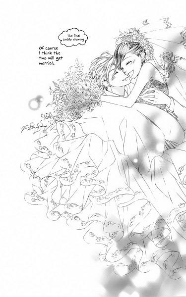 Tags: Anime, Hatori Bisco, Ouran High School Host Club, René Tamaki Richard de Grantaine, Fujioka Haruhi, Manga Page, Scan, Mobile Wallpaper, Official Art