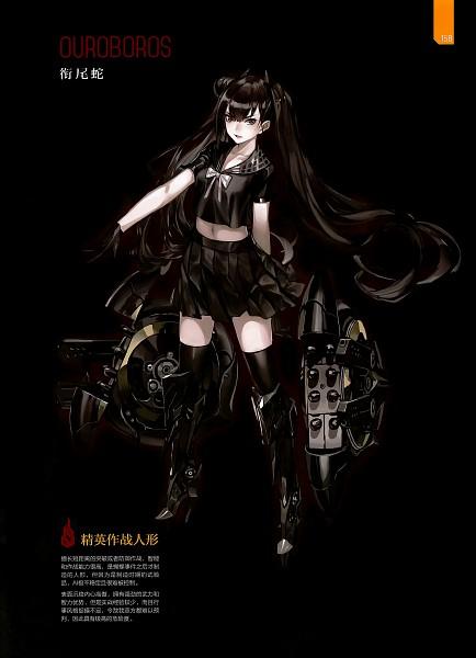Tags: Anime, Zhouran, The Art of Girls' Frontine, Girls Frontline, Ouroboros (Girls Frontline), Cover Image, Official Art, Mobile Wallpaper, Scan, Sangvis Ferri