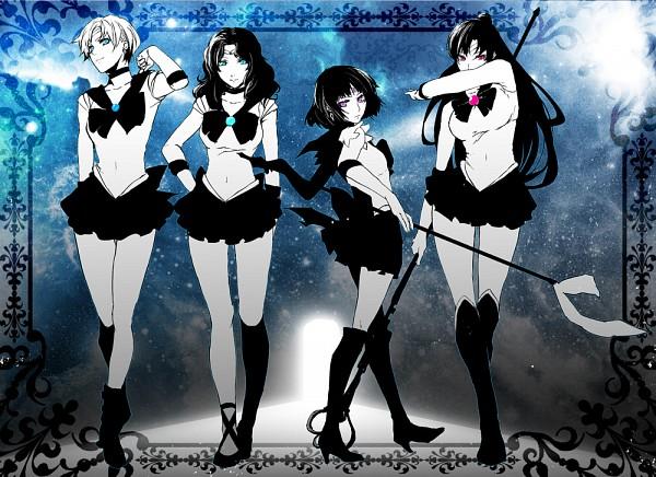 Tags: Anime, Pizaya, Bishoujo Senshi Sailor Moon, Sailor Neptune, Meiou Setsuna, Sailor Uranus, Kaiou Michiru, Sailor Saturn, Tomoe Hotaru, Tenou Haruka, Sailor Pluto, Silence Glaive, Pointing at Camera