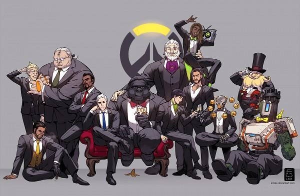 Tags: Anime, einlee, Overwatch, Winston (Overwatch), McCree, Junkrat, Genji (Overwatch), Zenyatta (Overwatch), Lúcio (Overwatch), Hanzo (Overwatch), Reinhardt (Overwatch), Roadhog (Overwatch), Reaper (Overwatch)