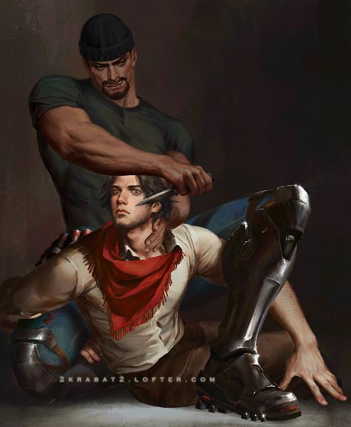 Tags: Anime, Pixiv Id 6826642, Overwatch, McCree, Reaper (Overwatch), Fanart From Pixiv, Pixiv, Fanart