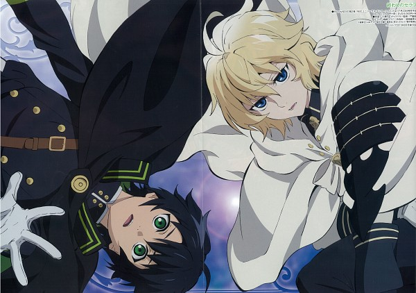 Tags: Anime, WIT STUDIO, Owari no Seraph, Hyakuya Mikaela, Hyakuya Yuuichirou, Scan, Official Art, Seraph Of The End