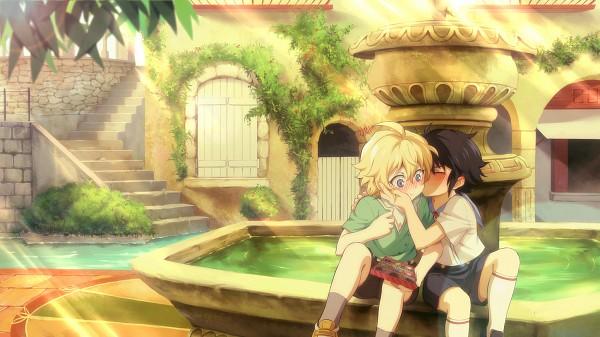 Tags: Anime, FCC, Owari no Seraph, Hyakuya Mikaela, Hyakuya Yuuichirou, Fountain, Pixiv, Fanart, Facebook Cover, Fanart From Pixiv, MikaYuu, Seraph Of The End