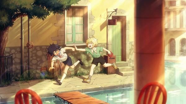 Tags: Anime, FCC, Owari no Seraph, Hyakuya Yuuichirou, Hyakuya Mikaela, Fanart, Facebook Cover, Fanart From Pixiv, Pixiv, Seraph Of The End