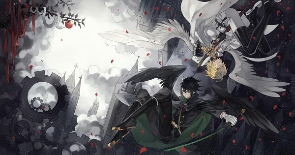 Tags: Anime, Rozy, Owari no Seraph, Hyakuya Yuuichirou, Hyakuya Mikaela, Tower, PNG Conversion, Pixiv, Fanart, Facebook Cover, Fanart From Pixiv, Seraph Of The End