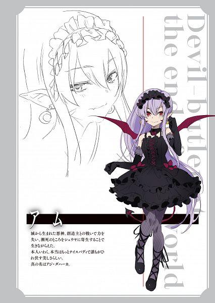Tags: Anime, Super Zombie, Owaru Sekai no Majin Shitsuji, Novel Illustration, Official Art, Character Request