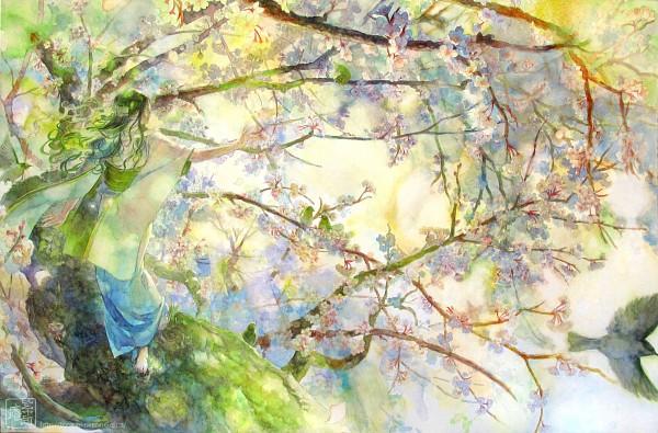 Tags: Anime, Oyabin (artist), Watercolor, Traditional Media, Pixiv