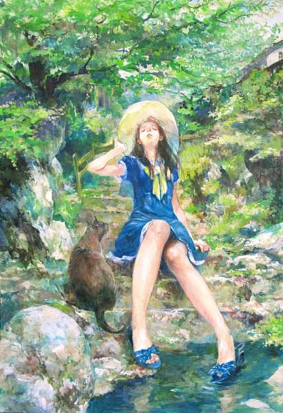 Tags: Anime, Oyabin (artist), Detailed, Traditional Media, Mobile Wallpaper, Pixiv, Original, Watercolor