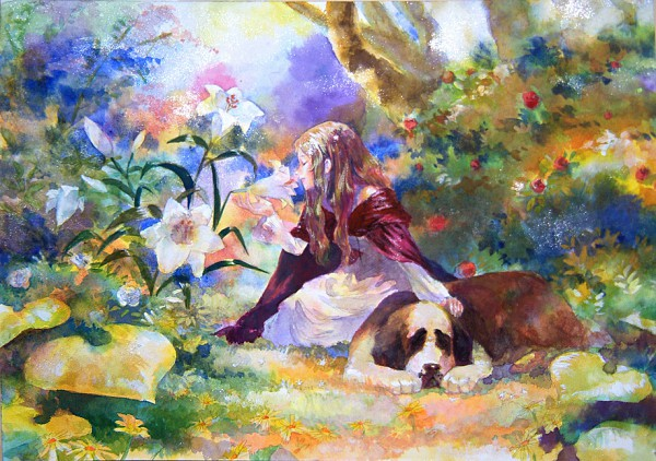Tags: Anime, Oyabin (artist), Detailed, Watercolor, Traditional Media, Pixiv, Original