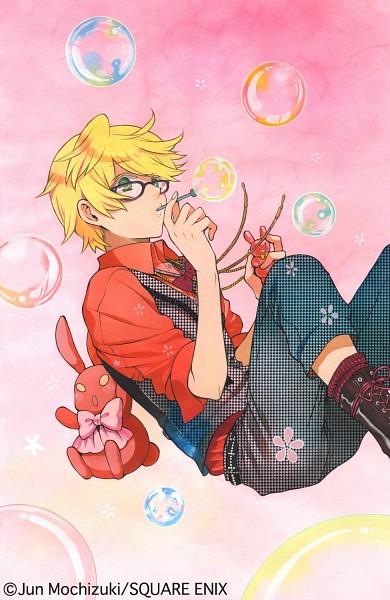 Tags: Anime, Mochizuki Jun, Pandora Hearts, B Rabbit, Oz Vessalius, Jilet, Official Art, Mobile Wallpaper