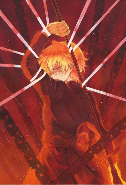 Tags: Anime, Mochizuki Jun, Pandora Hearts, Oz Vessalius, Official Art, Mobile Wallpaper