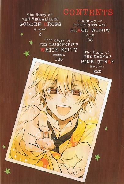 Tags: Anime, Mochizuki Jun, Pandora Hearts, Oz Vessalius, Index Page, Scan, Official Art, Mobile Wallpaper