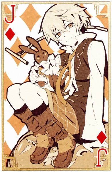 Tags: Anime, Xebec, Pandora Hearts, B Rabbit, Oz Vessalius, Official Art, Mobile Wallpaper, Card (Source), Scan