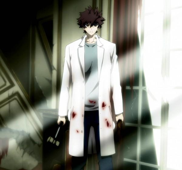Tags: Anime, Shiki, Ozaki Toshio, Stake, Doctor, Wooden Stake, Screenshot