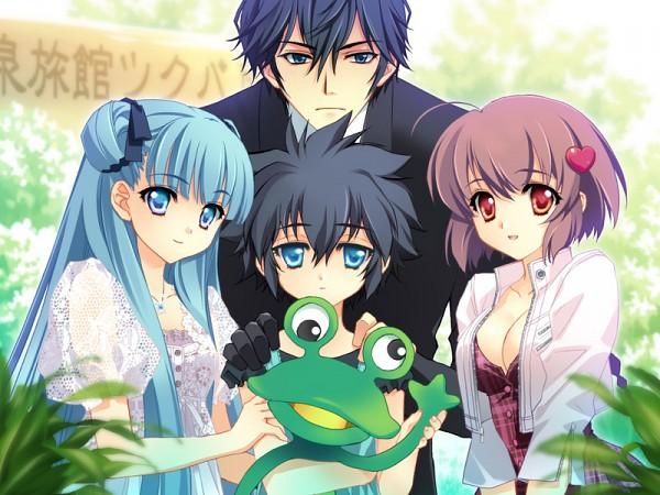 Tags: Anime, CARNELIAN, PARA-SOL, Fujita Kojirou, Yatabe Miu, Yatabe Noa, Fujita Nodoka, Heart Hair Ornament, Heart Clip, CG Art
