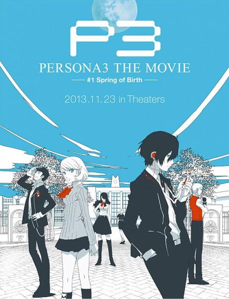 Tags: Anime, AIC A.S.T.A., PERSONA3 THE MOVIE —#1 Spring of Birth—, Shin Megami Tensei: PERSONA 3, Yamagishi Fuuka, Kirijou Mitsuru, Sanada Akihiko, Takeba Yukari, Yuuki Makoto (PERSONA 3), Iori Junpei, Artist Request, Official Art, Poster (Source), Persona 3 The Movie: #1 Spring Of Birth