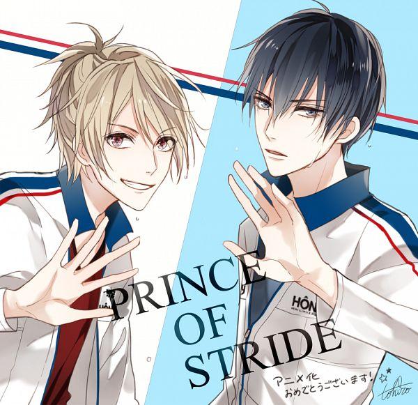 Tags: Anime, Shijima Tohiro, PRINCE OF STRIDE, Yagami Riku, Fujiwara Takeru, Twitter, PNG Conversion, Official Art