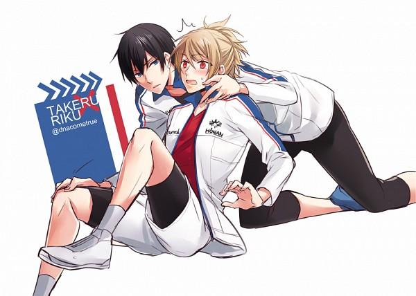 Tags: Anime, Pixiv Id 679534, PRINCE OF STRIDE, Fujiwara Takeru, Yagami Riku, Pixiv, Fanart, Fanart From Pixiv
