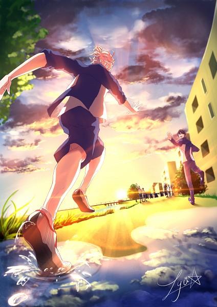 Tags: Anime, Lyu*, PRINCE OF STRIDE, Fujiwara Takeru, Sakurai Nana, Yagami Riku, Character Request, Pixiv, Fanart, Mobile Wallpaper, Fanart From Pixiv