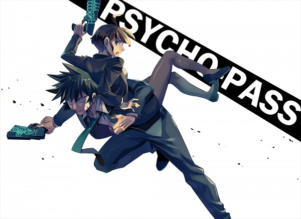 Tags: Anime, 302 (Artist), PSYCHO-PASS, Tsunemori Akane, Kougami Shinya, Fanart From Pixiv, Pixiv, Fanart