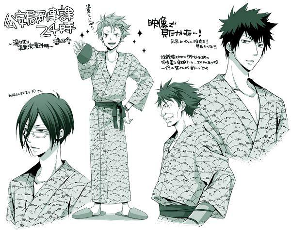 Tags: Anime, Kubyou Azami, PSYCHO-PASS, Kagari Shuusei, Masaoka Tomomi, Ginoza Nobuchika, Kougami Shinya, Fanart From Pixiv, Pixiv, Fanart