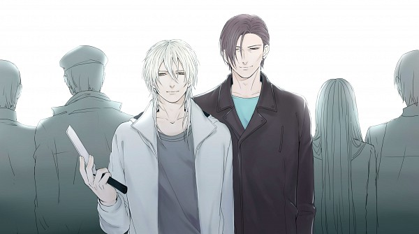 Tags: Anime, Pixiv Id 503486, PSYCHO-PASS, Choe Gu-sung, Makishima Shougo, Fanart From Pixiv, Pixiv, Wallpaper, Fanart, Facebook Cover