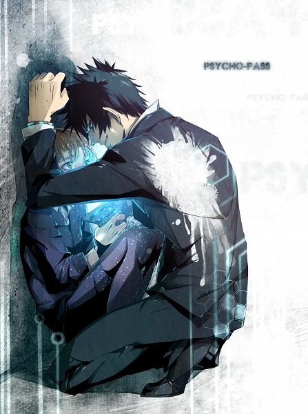 Tags: Anime, Pixiv Id 4080858, PSYCHO-PASS, Tsunemori Akane, Kougami Shinya, Cornered, Fanart From Pixiv, Pixiv, Fanart