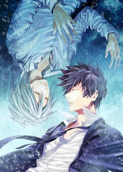 Tags: Anime, Zeroshiki, PSYCHO-PASS, Kougami Shinya, Makishima Shougo, Mobile Wallpaper, Pixiv