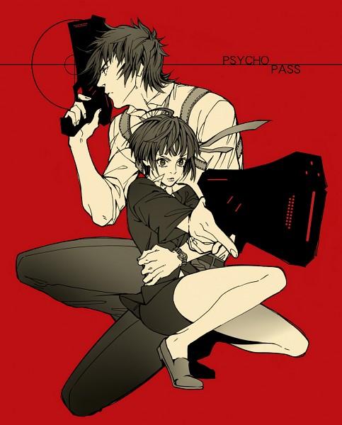 Tags: Anime, Haruhikohiko, PSYCHO-PASS, Kougami Shinya, Tsunemori Akane, Pixiv, Fanart, Fanart From Pixiv