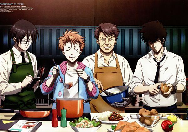 Tags: Anime, Kouda Naoko, PSYCHO-PASS, Masaoka Tomomi, Ginoza Nobuchika, Kougami Shinya, Kagari Shuusei, Scan, Official Art