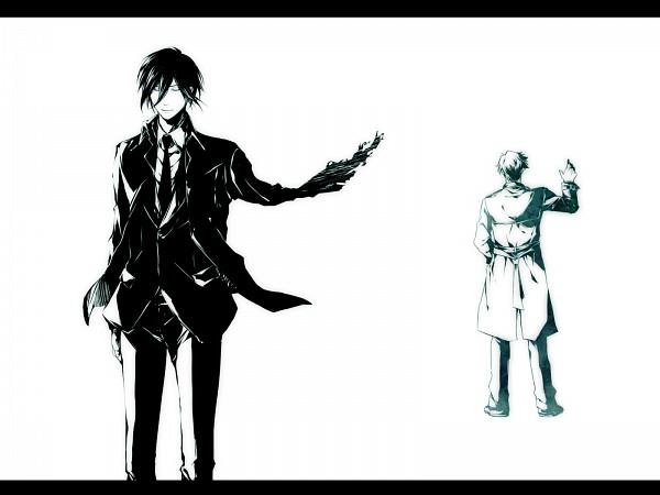 Tags: Anime, Aoi Shizuka, PSYCHO-PASS, Masaoka Tomomi, Ginoza Nobuchika, Pixiv, Wallpaper