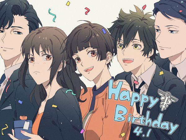Tags: Anime, Kome Kako, PSYCHO-PASS, Shimotsuki Mika, Tsunemori Akane, Homura Shizuka, Kei Mikhail Ignatov, Shindou Arata, Pixiv