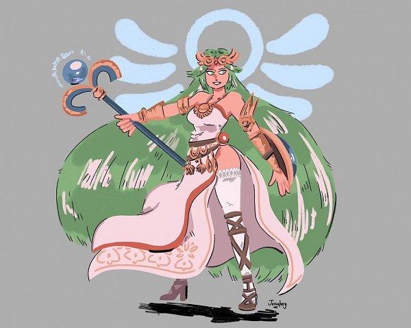 Tags: Anime, Jassaberg, Kid Icarus, Palutena