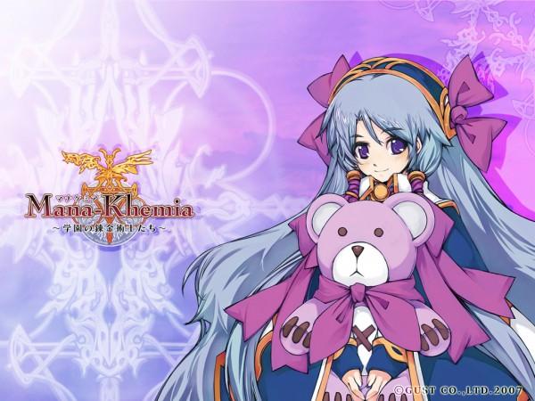 Tags: Anime, Mana Khemia, Pamela Ibis, Hugging Toy, Official Art, Wallpaper, Official Wallpaper