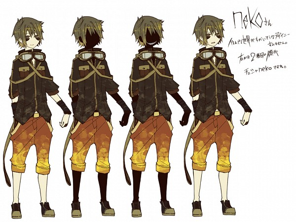 Tags: Anime, Inazumrai, Neko (Nico Nico Singer), Goggles Around Neck, Wallpaper, Fanart, Panda Hero, Hachi-p, Nico Nico Singer, Pixiv, Fanart From Pixiv
