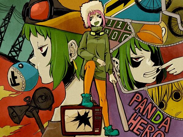 Tags: Anime, Mameda, VOCALOID, GUMI, Panda Hero