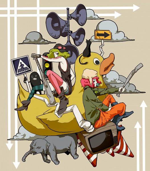 Tags: Anime, Andu-ril, VOCALOID, GUMI, Fanart, Panda Hero, Pixiv