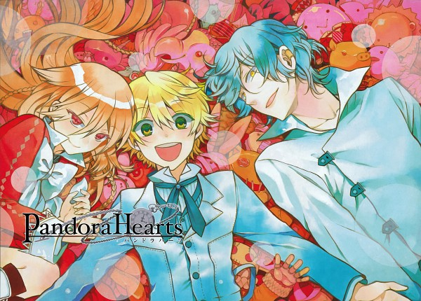 Tags: Anime, Mochizuki Jun, Pandora Hearts, Alice Baskerville, Gilbert Nightray, Oz Vessalius, Manga Color, Scan, Official Art