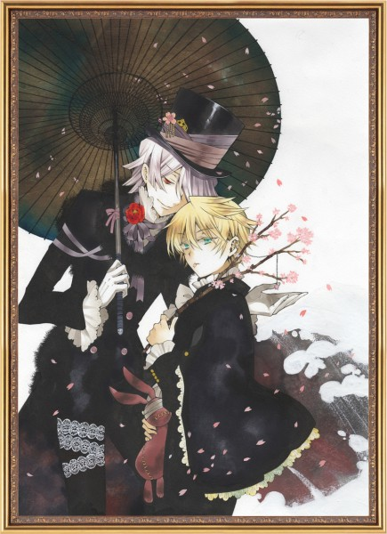 Tags: Anime, Mochizuki Jun, SQUARE ENIX, Pandora Hearts, Xerxes Break, Oz Vessalius, Mobile Wallpaper, Official Art, Calendar (Source)