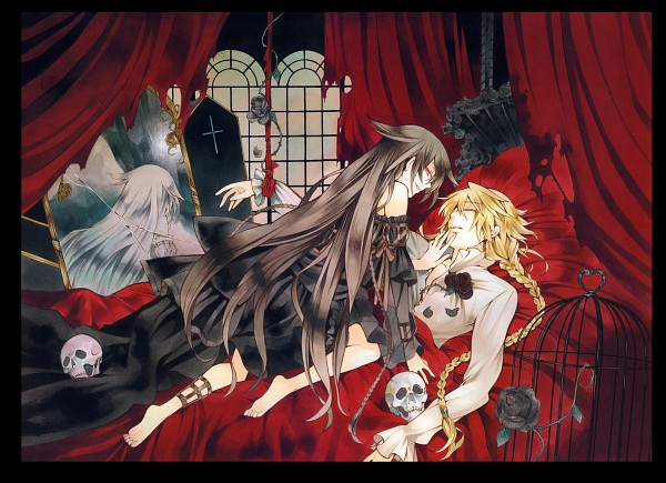 Tags: Anime, Mochizuki Jun, Pandora Hearts, Pandora Hearts ~Odds And Ends~, Alice Baskerville, Will of the Abyss, Jack Vessalius, Official Art, Scan