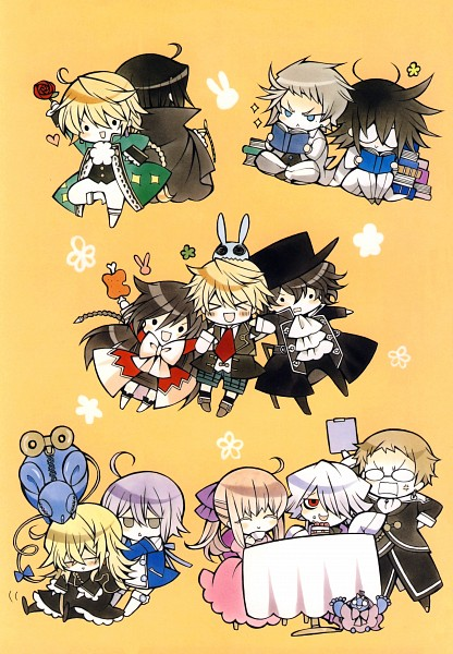 Tags: Anime, Mochizuki Jun, Pandora Hearts, Pandora Hearts ~Odds And Ends~, Dormouse (Pandora Hearts), Gilbert Nightray, Reim Lunettes, Alice Baskerville, Elliot Nightray, Sharon Rainsworth, Vincent Nightray, Echo, Jack Vessalius