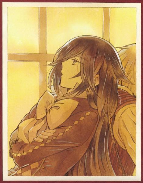 Tags: Anime, Mochizuki Jun, Pandora Hearts, Alice Baskerville, Oz Vessalius, Official Art, Index Page, Scan, Manga Color