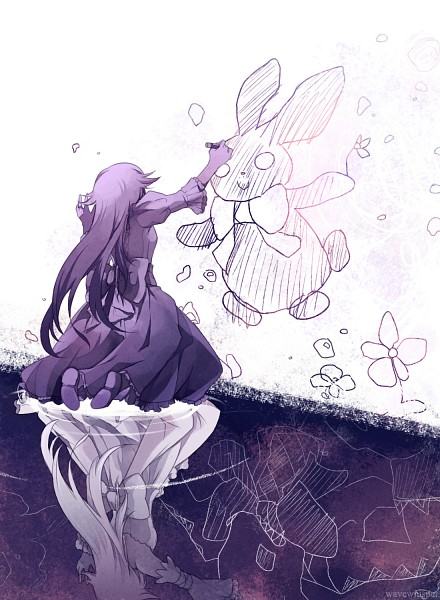 Tags: Anime, Wavewhisper, Pandora Hearts, Will of the Abyss, Alice Baskerville, Oz Vessalius, Drawing (Object), Crayon, Drawing (Action), Different Reflection, deviantART, PNG Conversion, Fanart