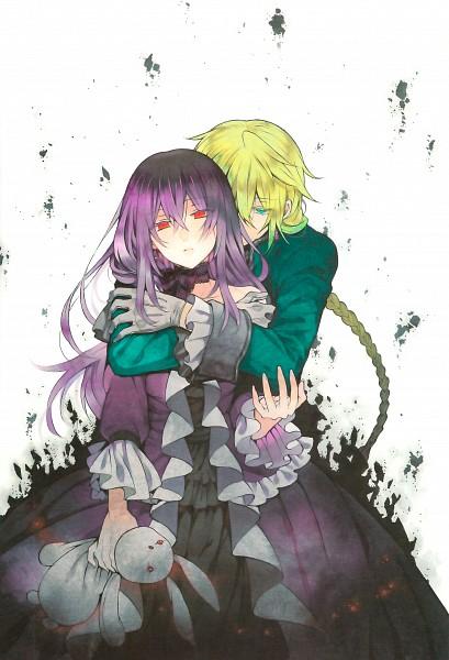 Tags: Anime, Mochizuki Jun, Pandora Hearts, Pandora Hearts ~There Is~, Lacie Baskerville, Jack Vessalius, Official Art, Mobile Wallpaper, Scan