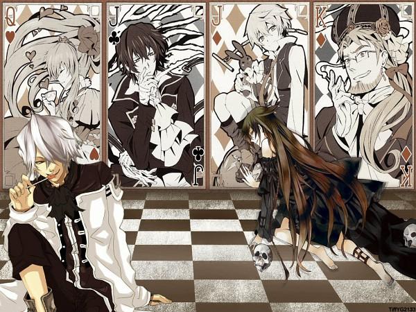 Tags: Anime, Mochizuki Jun, SQUARE ENIX, Xebec, Pandora Hearts, Xerxes Break, Alice Baskerville, Gilbert Nightray, Sharon Rainsworth, Oz Vessalius, Wallpaper