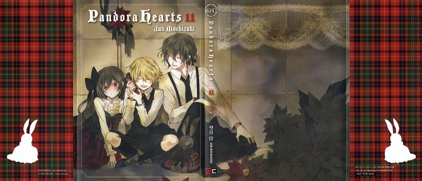 Tags: Anime, Mochizuki Jun, SQUARE ENIX, Pandora Hearts, Alice Baskerville, Oz Vessalius, Gilbert Nightray, Poinsettia, Kodona, Official Art, Manga Cover, Facebook Cover, Scan