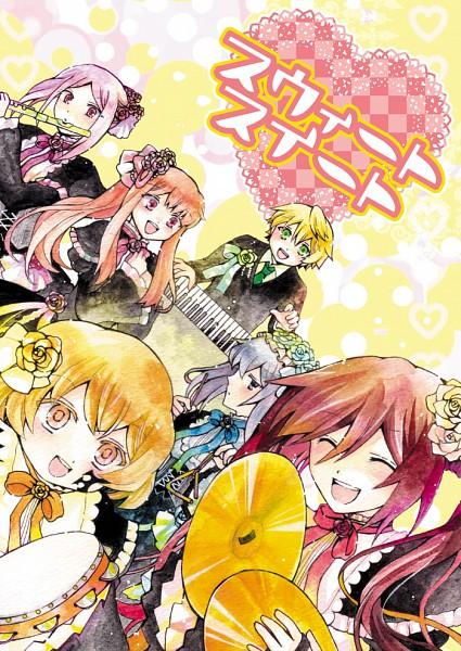 Tags: Anime, Hagi Green, SQUARE ENIX, Pandora Hearts, Echo, Sharon Rainsworth, Lily Baskerville, Oz Vessalius, Lotti Baskerville, Alice Baskerville, Clash Cymbal, Flute, Tambourine